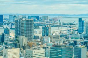 東京タワー展望台から見える東京の街並みの写真素材 [FYI03413588]