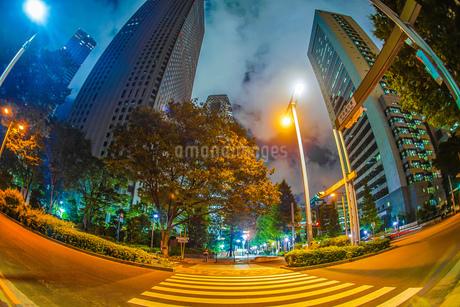 東京新宿の高層ビル群の夜景の写真素材 [FYI03413672]