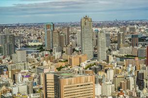 カレッタ汐留の展望台から見える東京の街並みの写真素材 [FYI03413700]