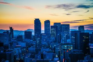 名古屋テレビ塔からの夕景の写真素材 [FYI03413715]
