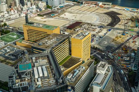 カレッタ汐留の展望台から見える東京の街並みの写真素材 [FYI03413825]