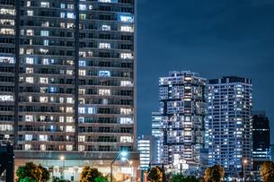 横浜・みなとみらいの夜景の写真素材 [FYI03413826]