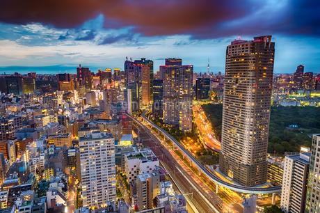 東京の夜景の写真素材 [FYI03414073]