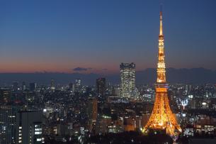 東京の夜景の写真素材 [FYI03414092]