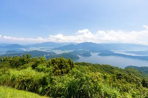 三方五湖、菅湖・三方湖・水月湖の写真素材 [FYI03415376]
