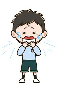 風邪をひいた男の子 ポーズ イラストのイラスト素材 [FYI03415631]