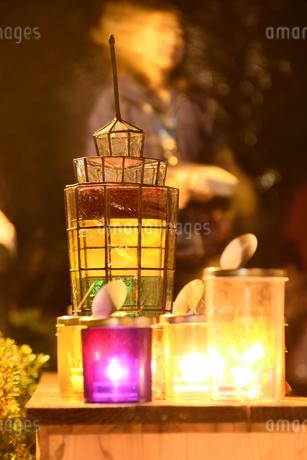 キャンドルの灯りの写真素材 [FYI03415772]