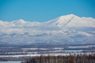 雪山と青空 大雪山の写真素材 [FYI03415825]