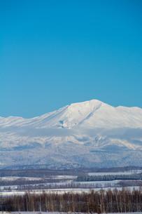 雪山と青空 大雪山の写真素材 [FYI03415826]