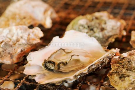 焼き牡蠣の写真素材 [FYI03415933]