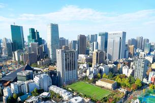 東京タワーから見る都心の街並みの写真素材 [FYI03416083]