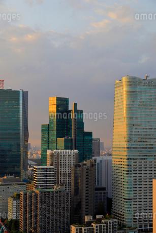 夕日の当たる六本木周辺の高層ビル群の写真素材 [FYI03416091]