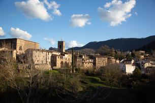 スペインの中世に造られた村の写真素材 [FYI03416096]
