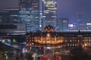 東京駅 日本 東京都 千代田区の写真素材 [FYI03416439]