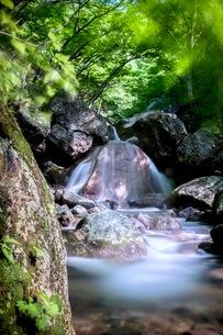 三日月の滝 日本 福島県 大玉村の写真素材 [FYI03416541]