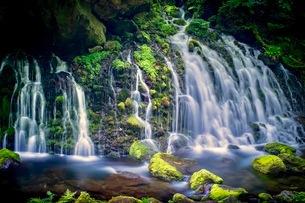 元滝伏流水(もとたきふくりゅうすい) 日本 秋田県 にかほ市の写真素材 [FYI03416543]