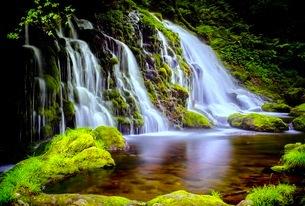元滝伏流水(もとたきふくりゅうすい) 日本 秋田県 にかほ市の写真素材 [FYI03416544]