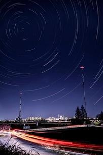 荒川土手 浦和カントリー付近 日本 埼玉県 さいたま市の写真素材 [FYI03416573]
