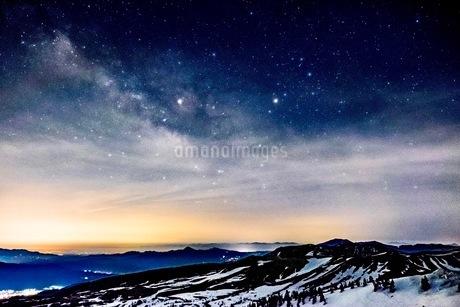 渋峠国道292号線標高2147メートルからの展望 日本 群馬県 嬬恋村の写真素材 [FYI03416606]