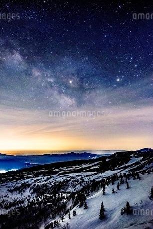 渋峠国道292号線標高2147メートルからの展望 日本 群馬県 嬬恋村の写真素材 [FYI03416607]