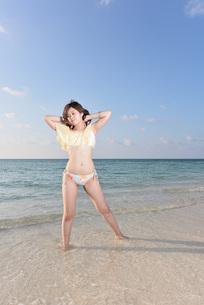 水着の若い女性の写真素材 [FYI03417156]