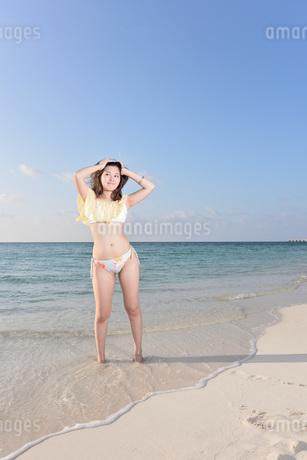水着の若い女性の写真素材 [FYI03417157]