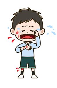 けがをした男の子 ポーズ イラストのイラスト素材 [FYI03417516]