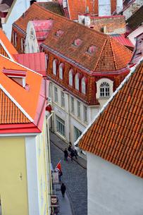 コフトゥ展望台から見た世界遺産エストニア・タリン旧市街の中世的な建物が並ぶ景観・旧市街は世界遺産の写真素材 [FYI03417540]