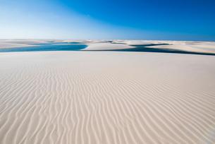 水晶の白い砂漠レンソイスと風紋の写真素材 [FYI03417589]