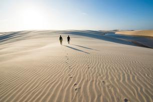 レンソイス砂漠を歩くの写真素材 [FYI03417591]