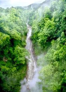 小安峡 日本 秋田県 湯沢市の写真素材 [FYI03417669]