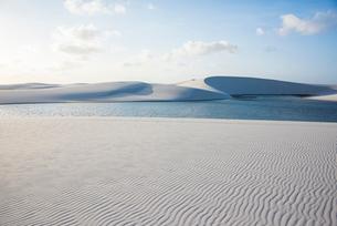 レンソイス砂漠の砂丘と風紋の写真素材 [FYI03417788]
