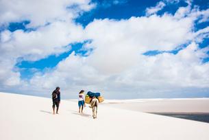 レンソイス砂漠を歩き地平線への写真素材 [FYI03417798]