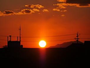 夕陽の写真素材 [FYI03417908]