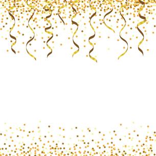 金色 ラメ リボン 背景のイラスト素材 [FYI03417909]