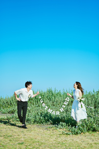 ウェディング カップル  新婚の写真素材 [FYI03417993]
