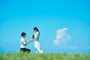 ウェディング カップル プロポーズの写真素材 [FYI03418005]
