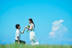 ウェディング カップル プロポーズの写真素材 [FYI03418006]