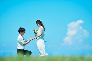 ウェディング カップル プロポーズの写真素材 [FYI03418007]