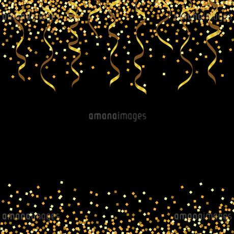 金色 ラメ リボン 背景のイラスト素材 [FYI03418160]