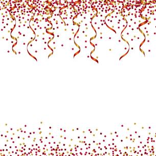 赤 ラメ リボン 背景のイラスト素材 [FYI03418163]