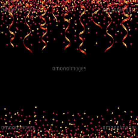 赤 ラメ リボン 背景のイラスト素材 [FYI03418164]