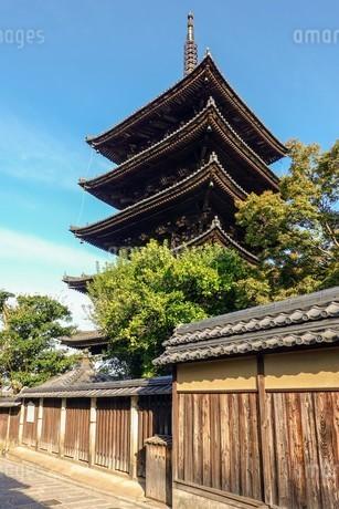 八坂の塔こと法観寺五重塔の写真素材 [FYI03418255]