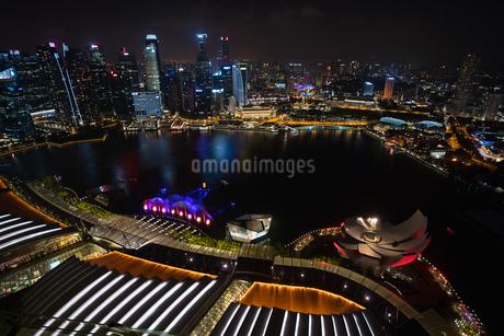 シンガポールの夜景の写真素材 [FYI03418424]