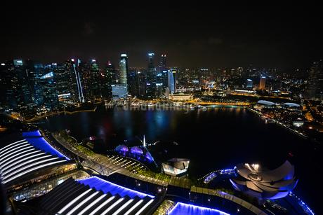 シンガポールの夜景の写真素材 [FYI03418425]