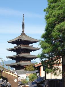 八坂の塔こと法観寺五重塔の写真素材 [FYI03418454]