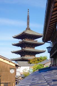 八坂の塔こと法観寺五重塔の写真素材 [FYI03418457]