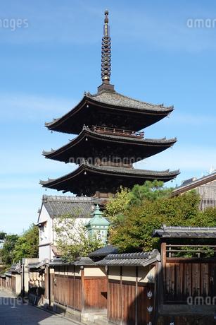 八坂の塔こと法観寺五重塔の写真素材 [FYI03418462]