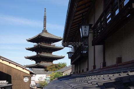 京都、八坂の塔こと法観寺五重塔の写真素材 [FYI03418463]