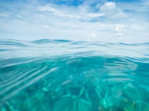 水中と空の写真素材 [FYI03418495]